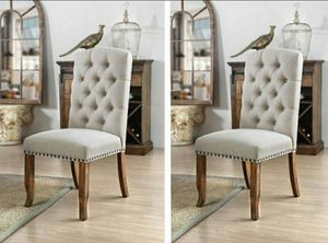 2 Accent Chair in Beige Fabric for Sale in Chino, CA