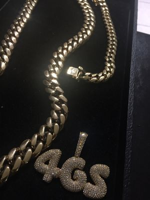 Black Friday Sale!! 14KT Gold Filled Cuban Chain and Bracelet. All sizes available!! Best Top Quality!! We do custom work!! for Sale in Atlanta, GA