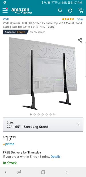 "TV Table Top Stand fits 22"" to 65"" for Sale in Boston, MA"