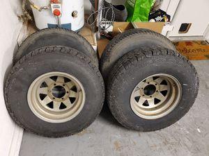 6x5.5 tires rims trailer for Sale in Modesto, CA