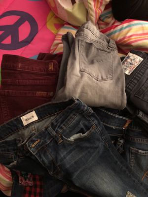 Used girl jeans 12/14 true religion 7all mankind hudson joe jeans 10-15$ a piece for Sale in National Park, NJ