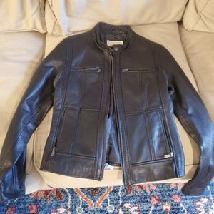 Michael Kors women's black leather Moto jacket for Sale in Kirkland, WA