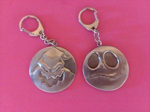 Disney Tim Burton's Nightmare Before Christmas Jack and Oogie Boogie Metal Keychains for Sale in Molalla, OR