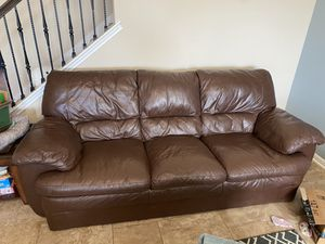 Palliser Leather sofa (Real Leather) for Sale in Round Rock, TX