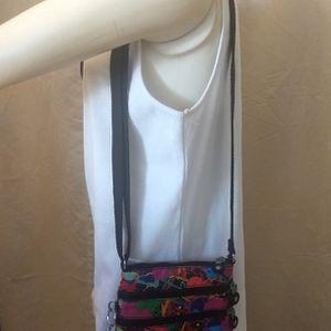 Kipling Alvar XS Crossbody Messenger Bag Bright Splash Print Monkey Keychain for Sale in Delray Beach, FL