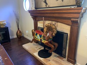 Carousel Horse Wood Carved jumper. Old horse in really good condition. for Sale in Riverside, CA