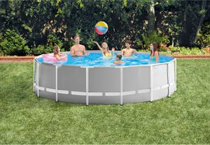 "Intex 15' x 48"" Prism Frame Pool - Gray for Sale in Rockville, MD"