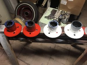 Wire wheel adapters 4 lug for Sale in Austin, TX