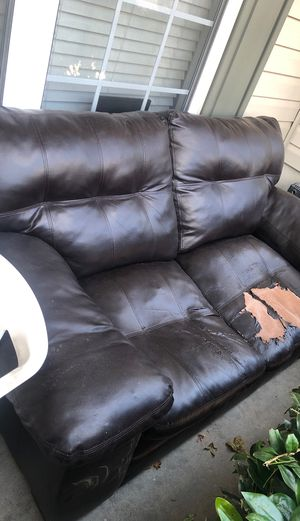 Pleather love seat for Sale in Alpharetta, GA