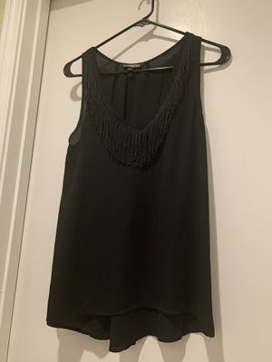 Express V Neck Black Fringe Tank Blouse for Sale in Farmers Branch, TX