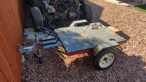 Small utility trailer with wheel chock for Sale in Las Vegas, NV