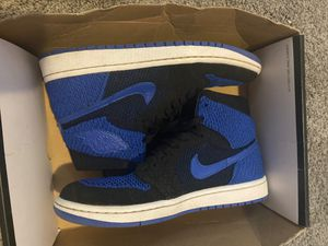 Jordan 1 fly knit blue for Sale in Woodhaven, MI