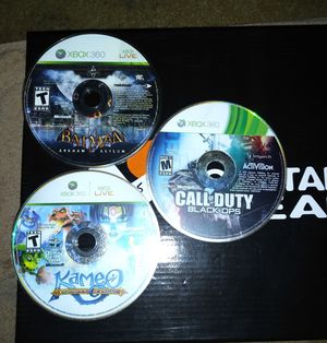 3 Xbox 360 games no scratches no case's for Sale in Cleveland, OH
