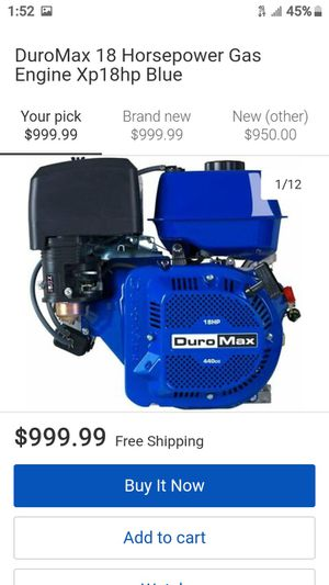 Duromax 18 horse power gas engine $500 for Sale in Tempe, AZ