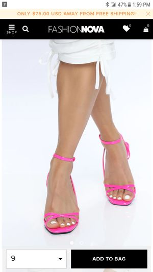 Fashion Nova Hot Pink Heels for Sale in Poway, CA