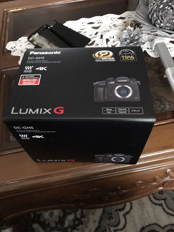 Brand new Panasonic GH5 unopened box. Retail $1400 selling for $1000