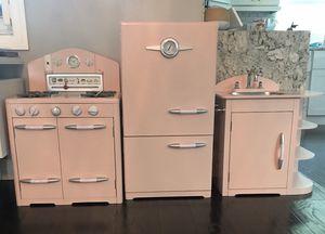 3 piece pink retro pottery barn kitchen for Sale in Boca Raton, FL