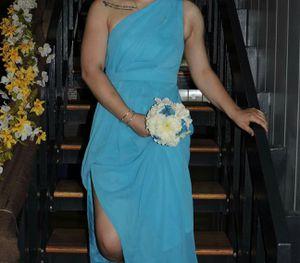 Malibu blue bridesmaid/formal/military ball/prom David's bridal dress SIZE 4 for Sale in Nashville, TN