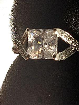 Princess cut diamond white gold Tiffany for Sale in Modesto, CA