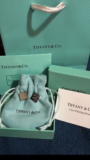 """Tiffany & Co. """"T & Co. Square stud earrings"""" Silver 925 for Sale in North Royalton, OH"""