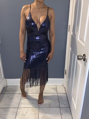Sequin Blue Fringed Dress Size Small for Sale in Philadelphia, PA