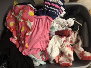 Box of girls clothes and shoes size 6M-18m for Sale in Gresham, OR