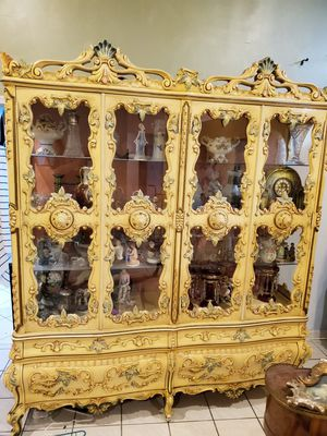 Antique Country French, Rococo China cabinet for Sale in Plantation, FL