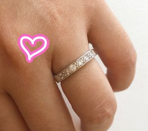 18K White Gold Filled Pave Band Ring for Sale in San Ramon, CA
