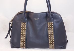 Coach 32443 Black Studded Satchel for Sale in Hines, IL