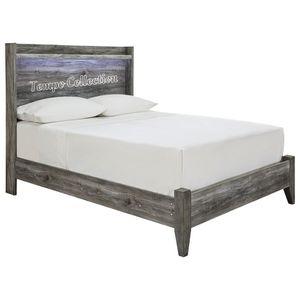 NEW IN THE BOX.STYLISH GREY FULL BED FRAME. SKU#TCB221-FULL for Sale in Huntington Beach, CA