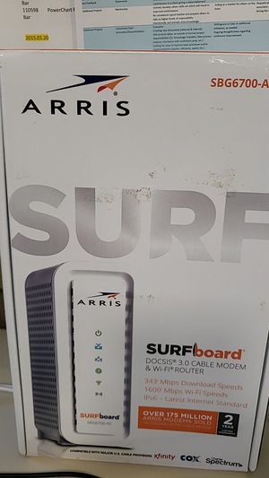 Arris Surfboard SBG6700AC-RB DOCSIS 3.0 Cable Modem/WiFi AC1600 router for Sale in Shawnee, KS