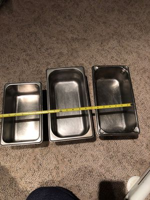 3 restaurant steam pans for Sale in Indianapolis, IN