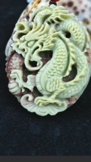 Natural jade dragon pendant rope necklace for Sale in Richmond, CA