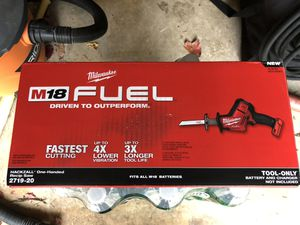 Milwaukee m18 fuel hackzall for Sale in New Haven, CT