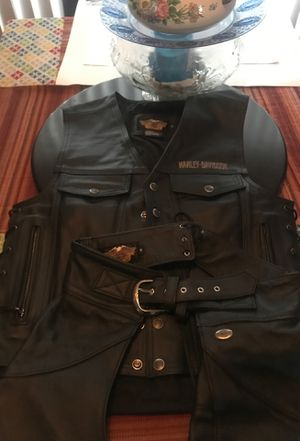 Harley-Davidson vest and chaps for Sale in Fresno, CA