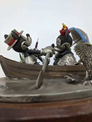 Disney Mickey and Minnie rowboat pewter for Sale in Seattle, WA