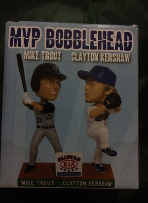 Quakes MVP Bobblehead Mike Trout Clayton Kershaw Bobblehead for Sale in Los  Angeles 8f97bc6fd