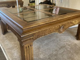 Wood And Glass Coffee Table for Sale in Arlington,  VA