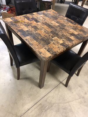 Faux marble square table for Sale in Independence, OH