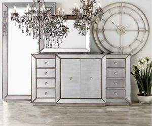 BRAND NEW Z Gallerie Omni Collection Mirrored Furniture( HALF OFF for Sale in Fullerton, CA