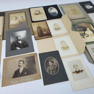 Lot Of 19 Vintage Cabinet Photographs & Other Circa 1900-1930 (Infants & Children etc.) for Sale in Trenton, NJ