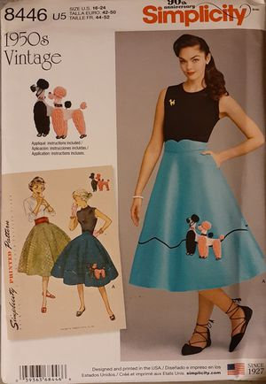 Simplicity 8446 Plus Size 1950's Vintage Skirt Sewing Pattern for Sale in Pico Rivera, CA