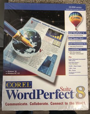(NEW) Corel Word Perfect 8 Software for Sale in Las Vegas, NV