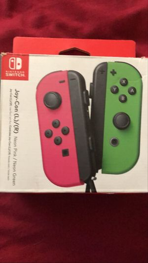Used Pink/Green Nintendo switch joy cons with box for Sale in Las Vegas, NV