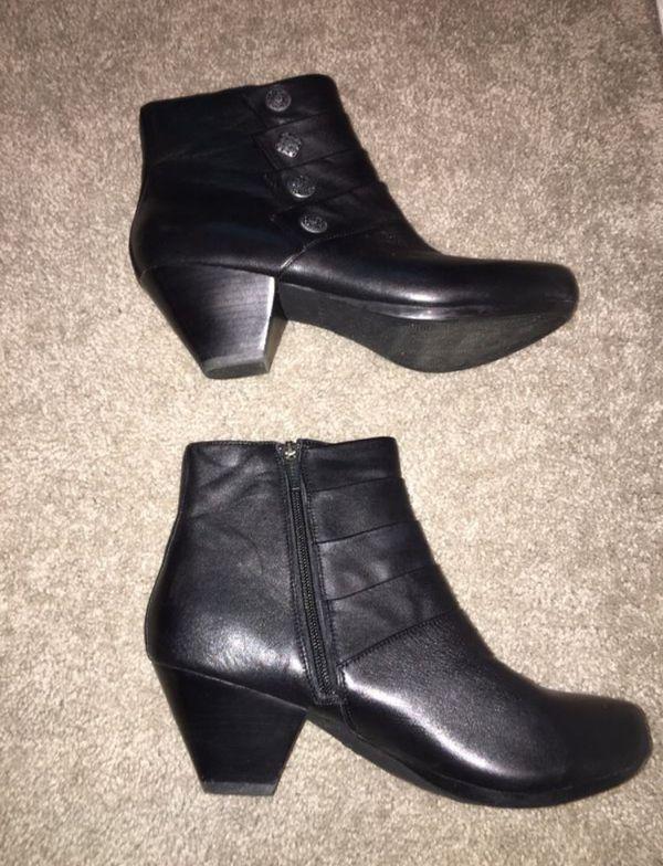 Women's Dansko Waterproof Black Leather Boots - Size 8-8.5US (Euro 39)