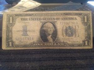 Antique US Silver Certificate $1.00 Bill for Sale in Modesto, CA