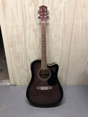 Glen Burton Acoustic/Electric Guitar + Amp, Case and More for Sale in San Diego, CA