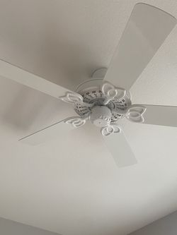 Household parts White and Working fan door knobs and light fixtures everything for 50 for Sale in Long Beach,  CA