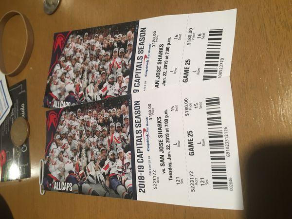 Washington Capitals Tickets Jan 22