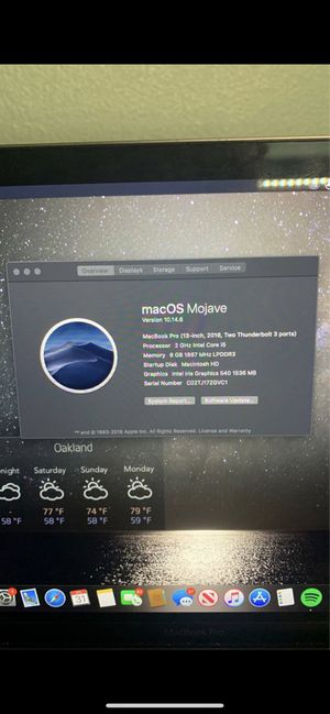 Macbook Pro Space Gray 13-inch, 256GB, 2016. for Sale in Oakland, CA